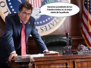 Charlie Sheen es el Presidente de USA en Machete Kills
