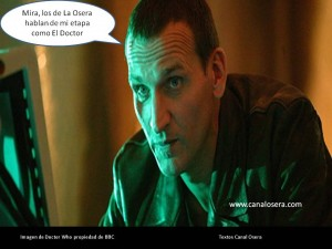 Eccleston es Dr.Who en Canal Osera